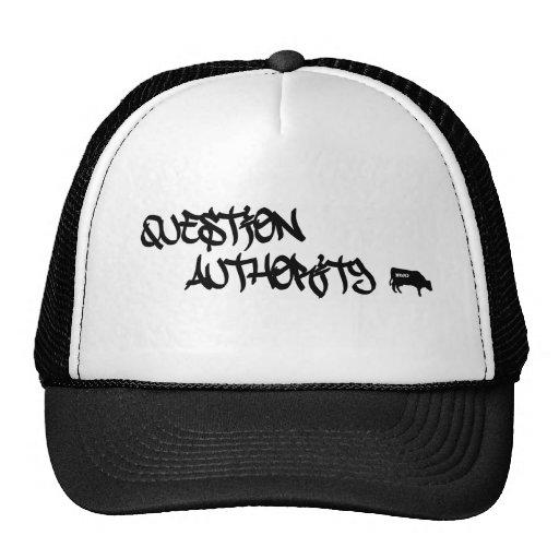 Logotipo de la autoridad de la pregunta gorros