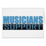Logotipo de la ayuda de los músicos tarjetas