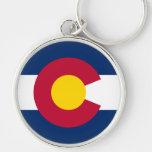 Logotipo de la bandera de Colorado Llaveros Personalizados