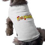 Logotipo de la bandera de Espana - bandera del log Playera Sin Mangas Para Perro