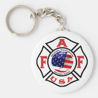 Logotipo de la bandera de los bomberos de América Llaveros