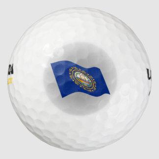 Logotipo de la bandera de New Hampshire Pack De Pelotas De Golf
