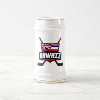 Logotipo de la bandera del hockey sobre hielo de jarra de cerveza