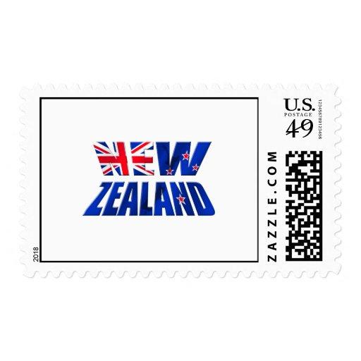 Logotipo de la bandera del kiwi de Nueva Zelanda Franqueo