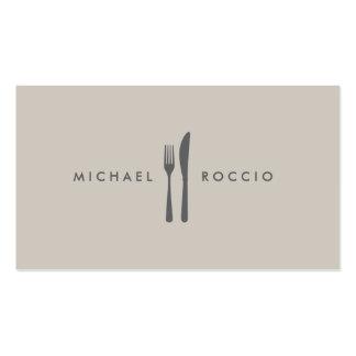 Logotipo de la bifurcación y del cuchillo para el tarjetas de negocios
