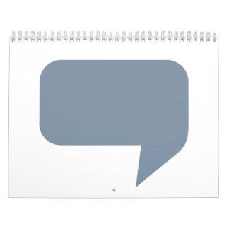 Logotipo de la burbuja del discurso calendario