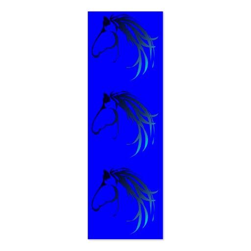 Logotipo de la cabeza de caballo en sombras de la  plantillas de tarjetas de visita