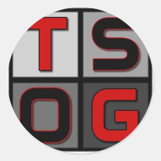 Logotipo de la caja de TSOG Pegatina Redonda