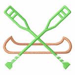 Logotipo de la canoa sudadera bordada
