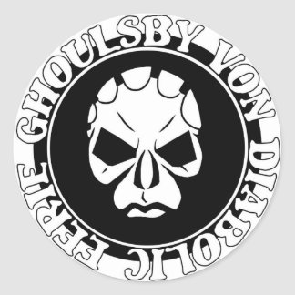 Logotipo de la cara de EGVD Pegatina Redonda