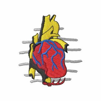 Logotipo de la cardiología sudadera bordada