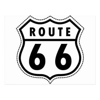 Logotipo de la carretera de la ruta 66 postal