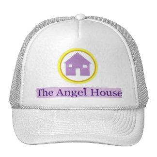 logotipo de la casa del ángel gorro de camionero
