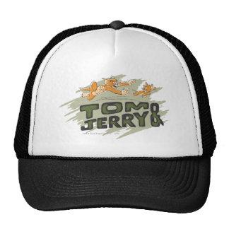 Logotipo de la caza de Tom y Jerry Gorro De Camionero
