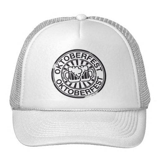 Logotipo de la cerveza de Oktoberfest Gorras