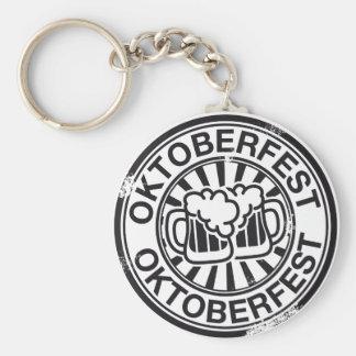 Logotipo de la cerveza de Oktoberfest Llavero Personalizado