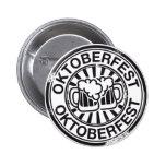 Logotipo de la cerveza de Oktoberfest Pin Redondo De 2 Pulgadas