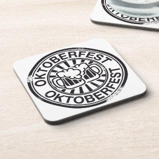 Logotipo de la cerveza de Oktoberfest Posavasos De Bebida