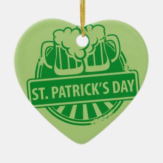 Logotipo de la cerveza del día de St Patrick Adorno