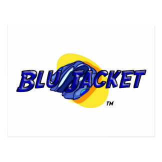 Logotipo de la chaqueta azul postal