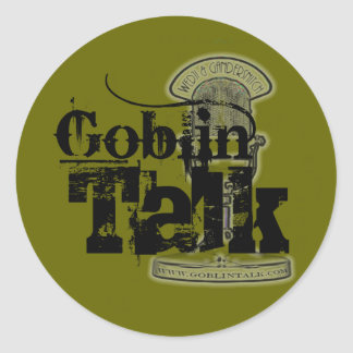 ¡Logotipo de la charla del Goblin - pegatina!