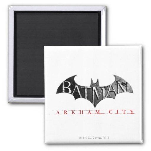 Logotipo de la ciudad de Batman Arkham Imán Cuadrado