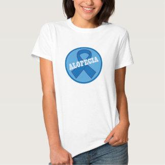 Logotipo de la conciencia de la alopecia con Blue Polera