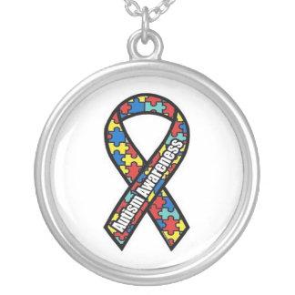 Logotipo de la conciencia del autismo colgante redondo