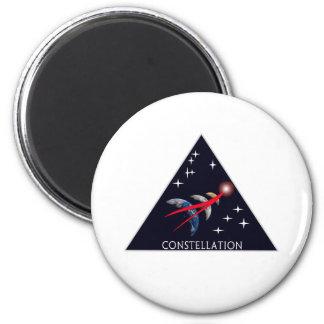 Logotipo de la constelación del proyecto de la NAS Imán Redondo 5 Cm