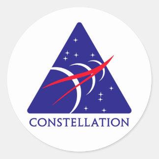 Logotipo de la constelación etiquetas redondas