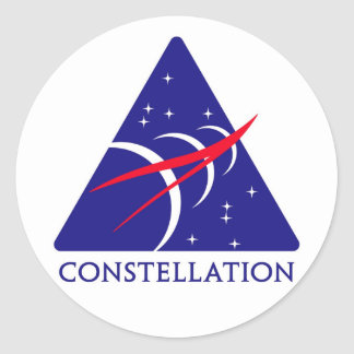 Logotipo de la constelación pegatina redonda