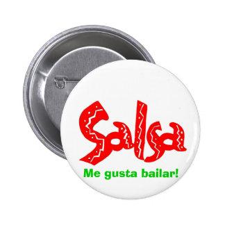 Logotipo de la danza de la salsa pin redondo 5 cm