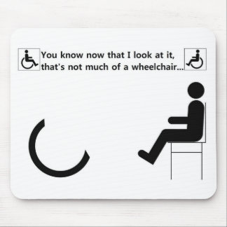 Logotipo de la desventaja de la silla de ruedas tapetes de ratones