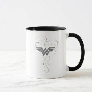 Logotipo de la dicha de la belleza de la Mujer Taza