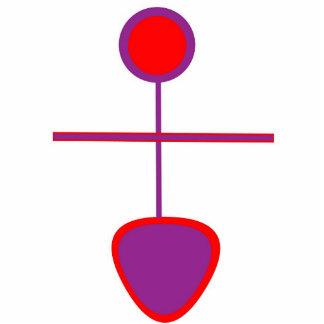Logotipo de la diosa pin fotoescultura