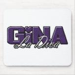 Logotipo de la diva del La de Gina Alfombrilla De Ratón