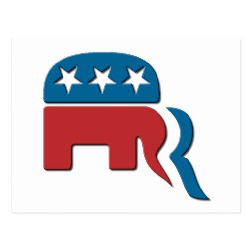 Logotipo de la elección del Partido Republicano de Tarjeta Postal