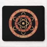 Logotipo de la energía atómica de la ciencia alfombrilla de raton