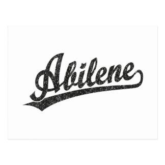 Logotipo de la escritura de Abilene en el negro ap Postal