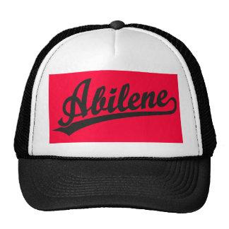 Logotipo de la escritura de Abilene en negro Gorros