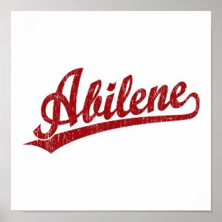Logotipo de la escritura de Abilene en rojo Impresiones