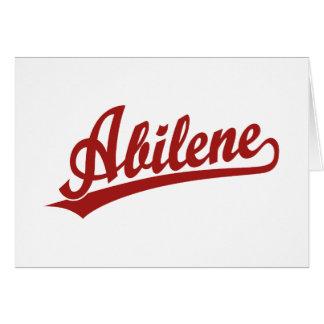 Logotipo de la escritura de Abilene en rojo Tarjeta De Felicitación