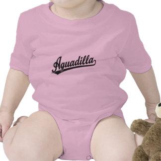 Logotipo de la escritura de Aguadilla en negro Traje De Bebé