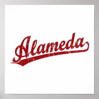 Logotipo de la escritura de Alameda en rojo Impresiones
