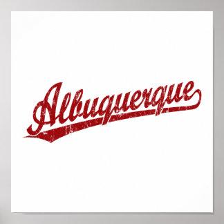 Logotipo de la escritura de Albuquerque en rojo Impresiones