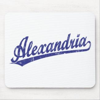 Logotipo de la escritura de Alexandría en azul Tapetes De Raton
