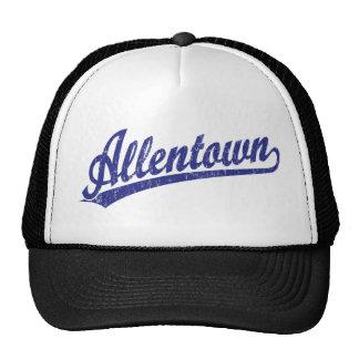 Logotipo de la escritura de Allentown en azul Gorros