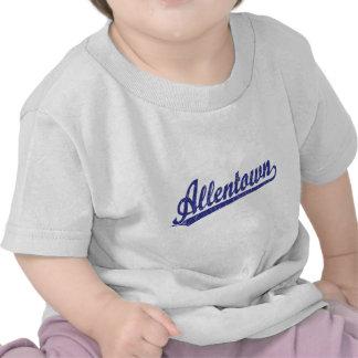 Logotipo de la escritura de Allentown en azul Camiseta