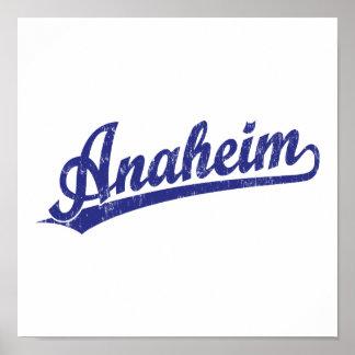 Logotipo de la escritura de Anaheim en azul Impresiones