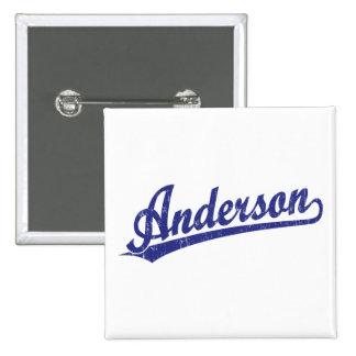 Logotipo de la escritura de Anderson en azul Pin